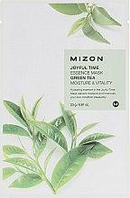 Kup Nawilżająca maska na tkaninie z zieloną herbatą - Mizon Joyful Time Green Tea Essence Mask