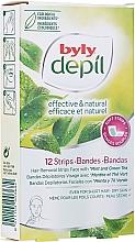 Kup Plastry z woskiem do twarzy Mięta i zielona herbata - Byly Depil Mint And Green Tea Hair Removal Strips Face