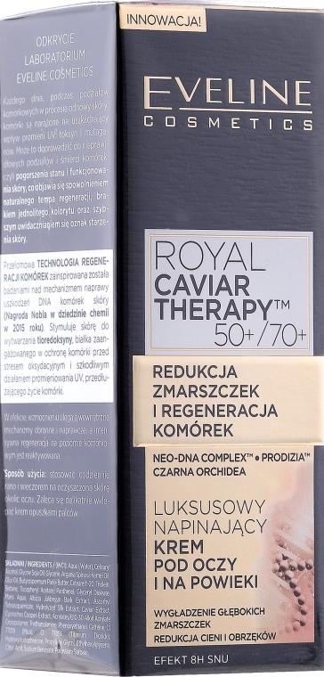 Luksusowy napinający krem pod oczy i na powieki - Eveline Cosmetics Royal Caviar Therapy Eye Cream