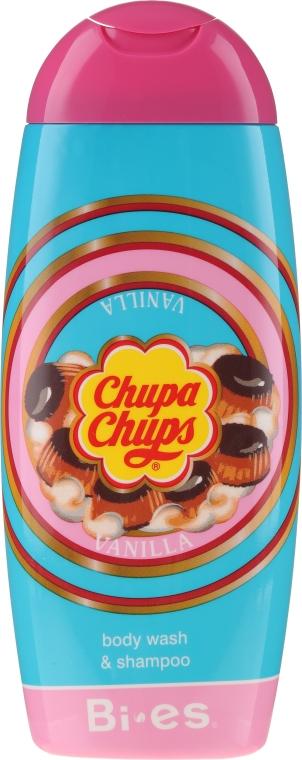 Żel do mycia ciała i szampon do włosów 2 w 1 Ciasteczko waniliowe - Bi-es Chupa Chups Cookie Vanilla — фото N1