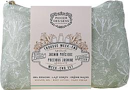 Kup PRZECENA! Zestaw - Panier Des Sens Presious Jasmine Week-End Set (sh/gel/70ml + b/lot/70ml + h/cr/30ml + bag) *