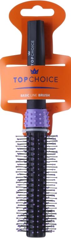 Szczotka do włosów, czarno-fioletowa 2083 - Top Choice — фото N1