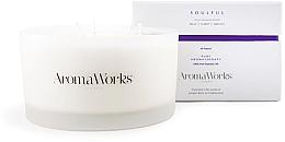 Kup Świeca zapachowa Jałowiec i kadzidło z trzema knotami - AromaWorks Soulful Candle 3-wick