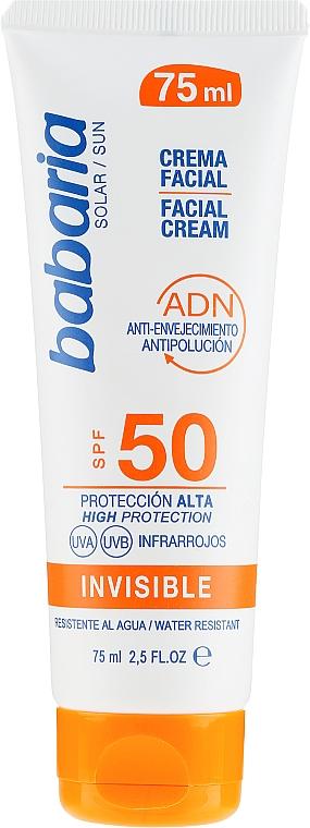 Przeciwsłoneczny krem do twarzy SPF 50 - Babaria Invisible Facial Sun Cream  — фото N1