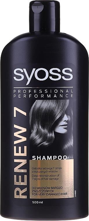 Szampon do włosów zniszczonych - Syoss Renew 7 Complete Repair Shampoo