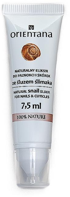 Naturalny eliksir do paznokci i skórek ze śluzem ślimaka - Orientana Natural Snail Elixir For Nails&Cuticles