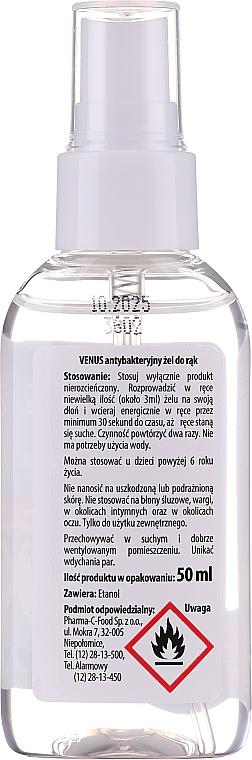Antybakteryjny żel w sprayu do rąk - Venus Antibacterial Hand Gel Spray — фото N2