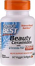 Wegetariańskie kapsułki na piękną skórę - Doctor's Best Beauty Ceramides with Ceramide-PCD — фото N1