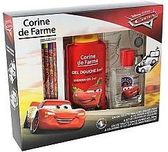 Kup Corine de Farme Cars - Zestaw z kredkami dla dzieci (edt/50ml + sh/gel/250ml + crayons/ 6szt)