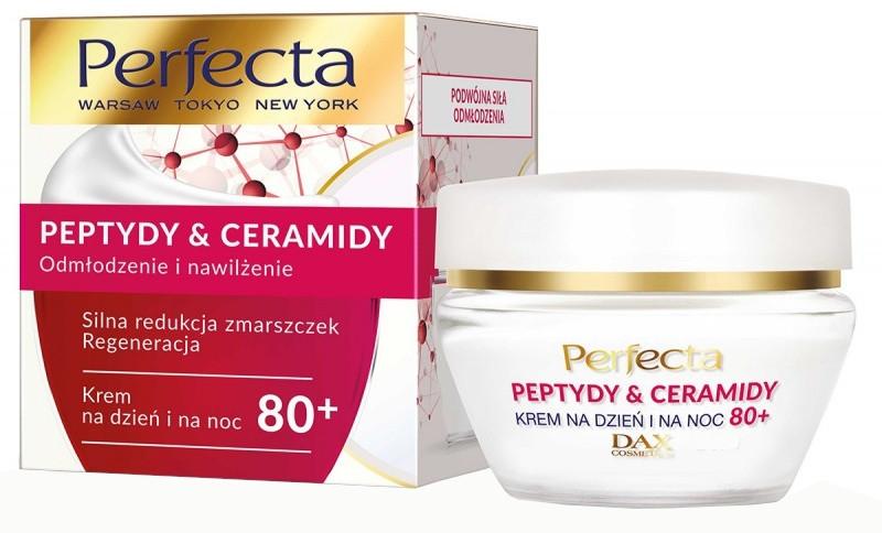 Odmładzający krem nawilżający do twarzy 80+ - Perfecta Peptydy&Ceramidy