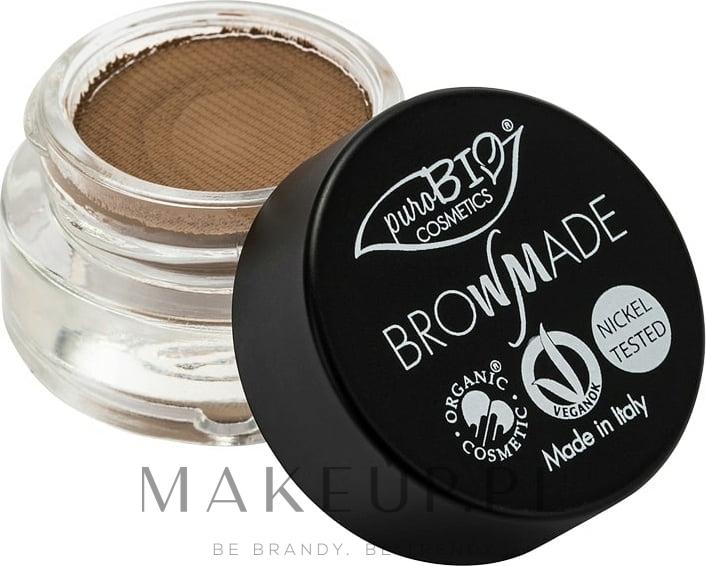 Pomada do brwi - PuroBio Cosmetics BrowMade — фото 01 - Ashen