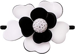 Kup Spinka do włosów, 507, kwiatek - Moliabal Milano Black White Diamond Flower Hair Tie