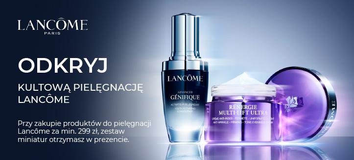 Przy zakupie produktów do pielęgnacji Lancôme za min. 299 zł, zestaw miniatur otrzymasz w prezencie.