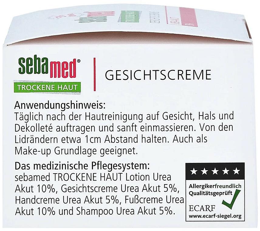 Krem do twarzy - Sebamed Trockene Haut Face Cream Urea Akut 5% — фото N2