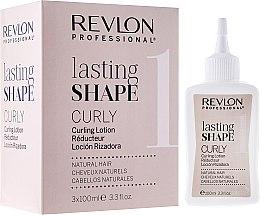 Kup Zestaw do trwałej ondulacji włosów naturalnych - Revlon Professional Lasting Shape Curly 1 (lot / 3 x 100 ml)