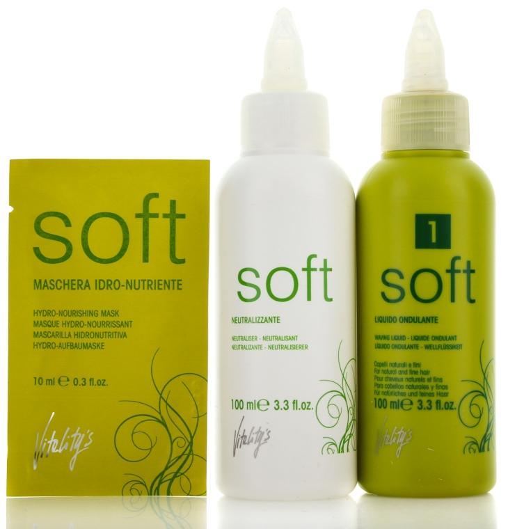 Płyn i utrwalacz do trwałej ondulacji do włosów naturalnych i grubych - Vitality's Soft N1