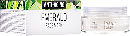 Kup Szmaragdowa maska przciwstarzeniowa do twarzy - SM Collection Crystal Emerald Anti-Aging Face Mask