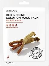 Kup Maseczka do twarzy w płachcie - Lebelage Red Ginseng Solution Mask