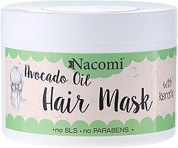 Maska do włosów z olejem z awokado i proteinami keratyny - Nacomi Natural — фото N1