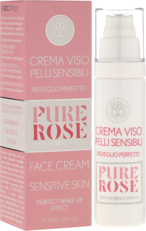 Łagodzący krem do skóry delikatnej i wrażliwej - Erbario Toscano Biocomplex Pure Rose Sensitive Skin Face Cream — фото N1