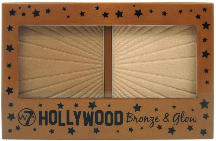Zestaw do konturowania twarzy - W7 Hollywood Bronze & Glow