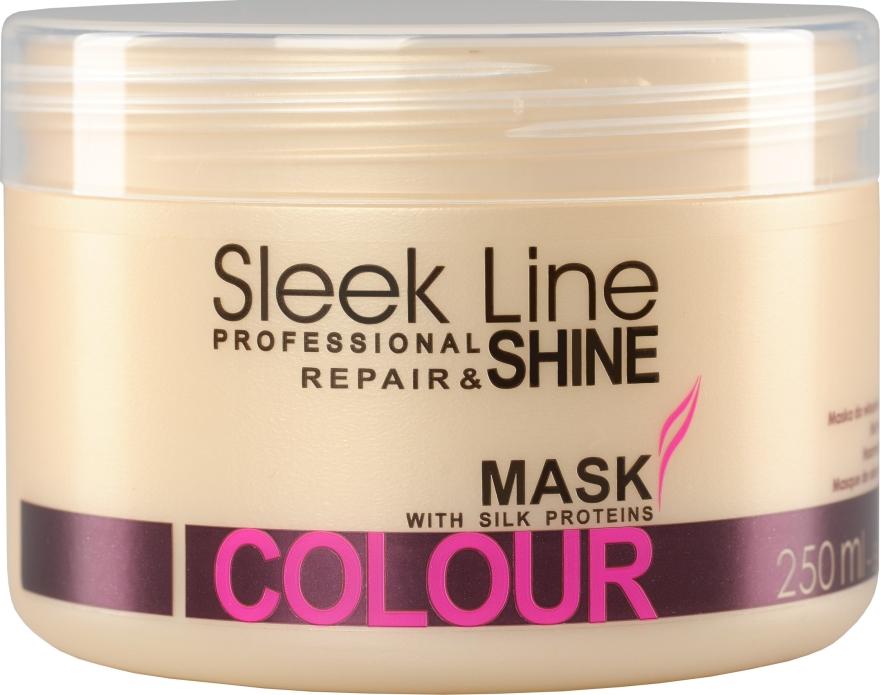 Maska z jedwabiem do włosów farbowanych - Stapiz Sleek Line Colour