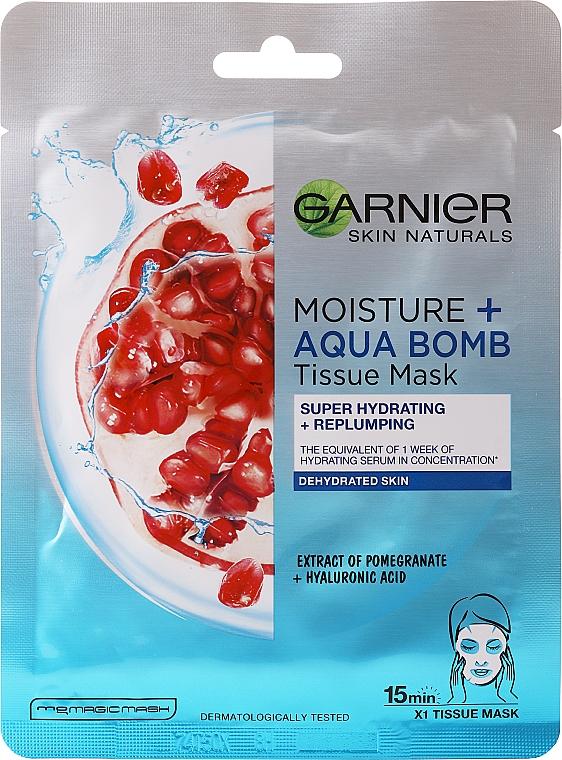 Nawilżająca maska do twarzy - Garnier Skin Active Moisture + Aqua Bomb Tissue Mask