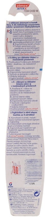 Szczoteczka do zębów przeciw próchnicy, średnia twardość, fioletowa, 43613 - Elmex Toothbrush Caries Protection InterX Medium — фото N2