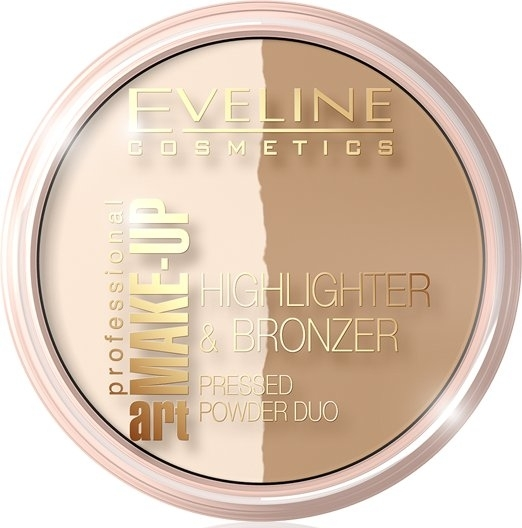 Rozświetlacz i bronzer do twarzy - Eveline Cosmetics Art Professional Make-Up Glam