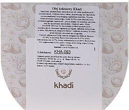 100% olej kokosowy - Khadi Coconut Oil — фото N2