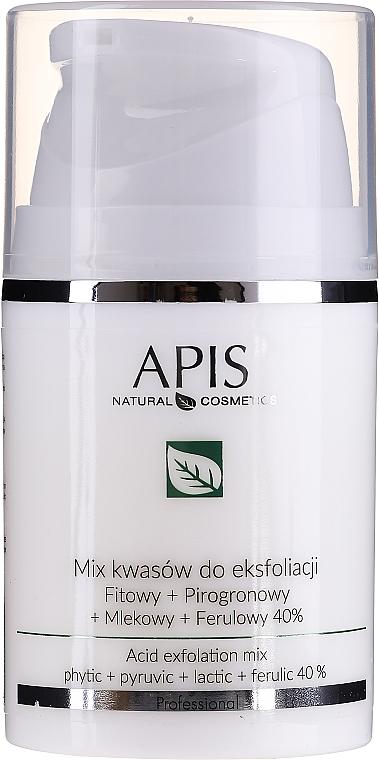 Miks kwasów do eksfoliacji Fitowy + pirogronowy + mlekowy + ferulowy 40% - APIS Professional Exfoliation Acid Mix