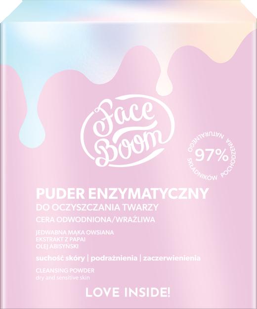 Enzymatyczny puder oczyszczający do cery odwodnionej i wrażliwej - Bielenda FaceBoom