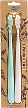 Kup Zestaw - The Natural Family Co Bio Brush Rivermint & Ivory Desert (toothbrush/1pcs + toothbrush/1pcs)