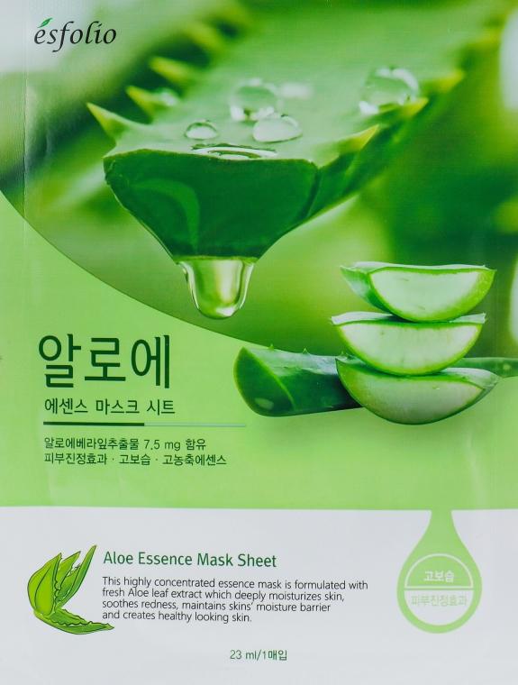 Maska w płachcie do twarzy z ekstraktem z aloesu - Esfolio Aloe Essence Mask Sheet