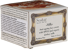 Kup PRZECENA! Przeciwzmarszczkowy krem do twarzy SPF 50 - Sostar Anti-Ageing Face Cream *