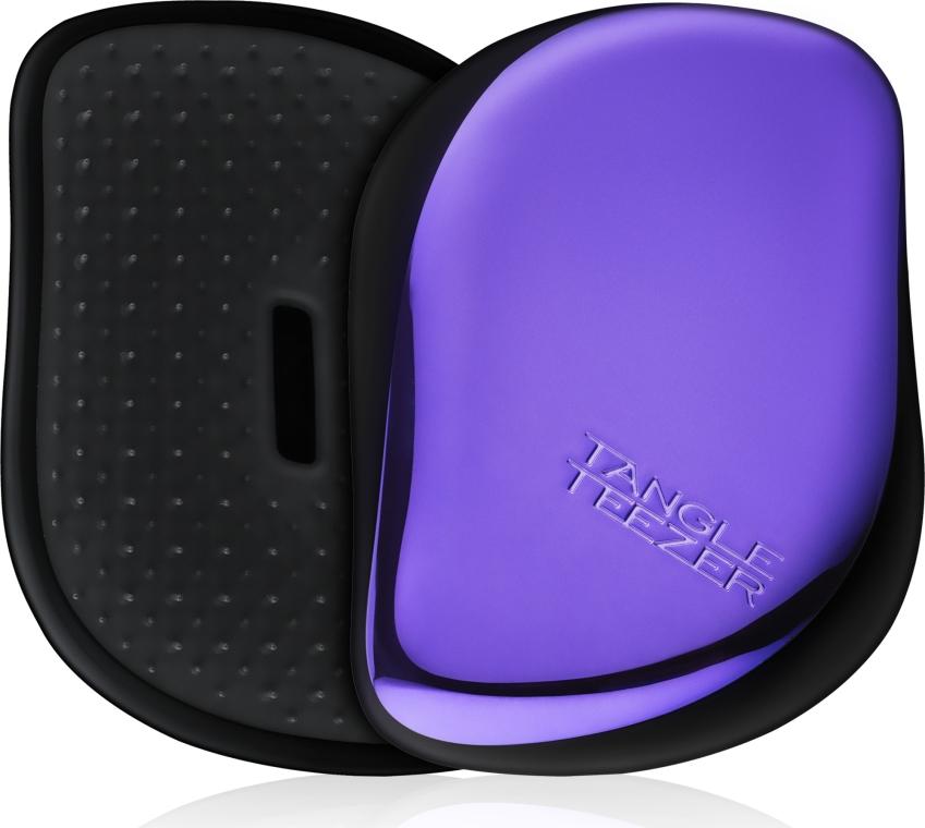 Kompaktowa szczotka do włosów - Tangle Teezer Compact Styler Purple Dazzle Brush