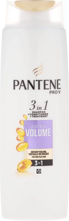 Szampon, odżywka i kuracja 3 w 1 do włosów cienkich i pozbawionych objętości Większa objętość - Pantene Pro-V 3in1 Extra Volume Shampoo
