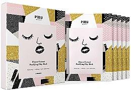 Kup Zestaw maseczek do twarzy - Pibu Beauty Flower Extract Purifying Clay Mask Set (f/mask/5x18g)