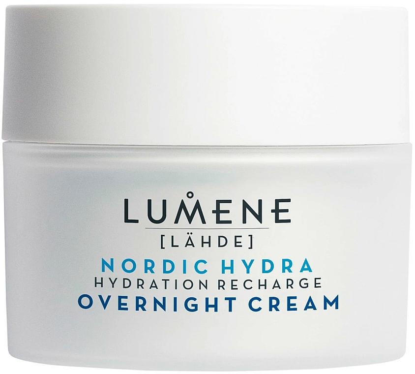 Nawilżający krem na noc - Lumene Lahde [Spring Water] Hydration Recharge Overnight Cream — фото N3