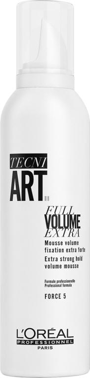Intensywnie utrwalająca pianka zwiększająca objętość włosów - L'Oreal Professionnel Tecni.art Full Volume Extra — фото N1