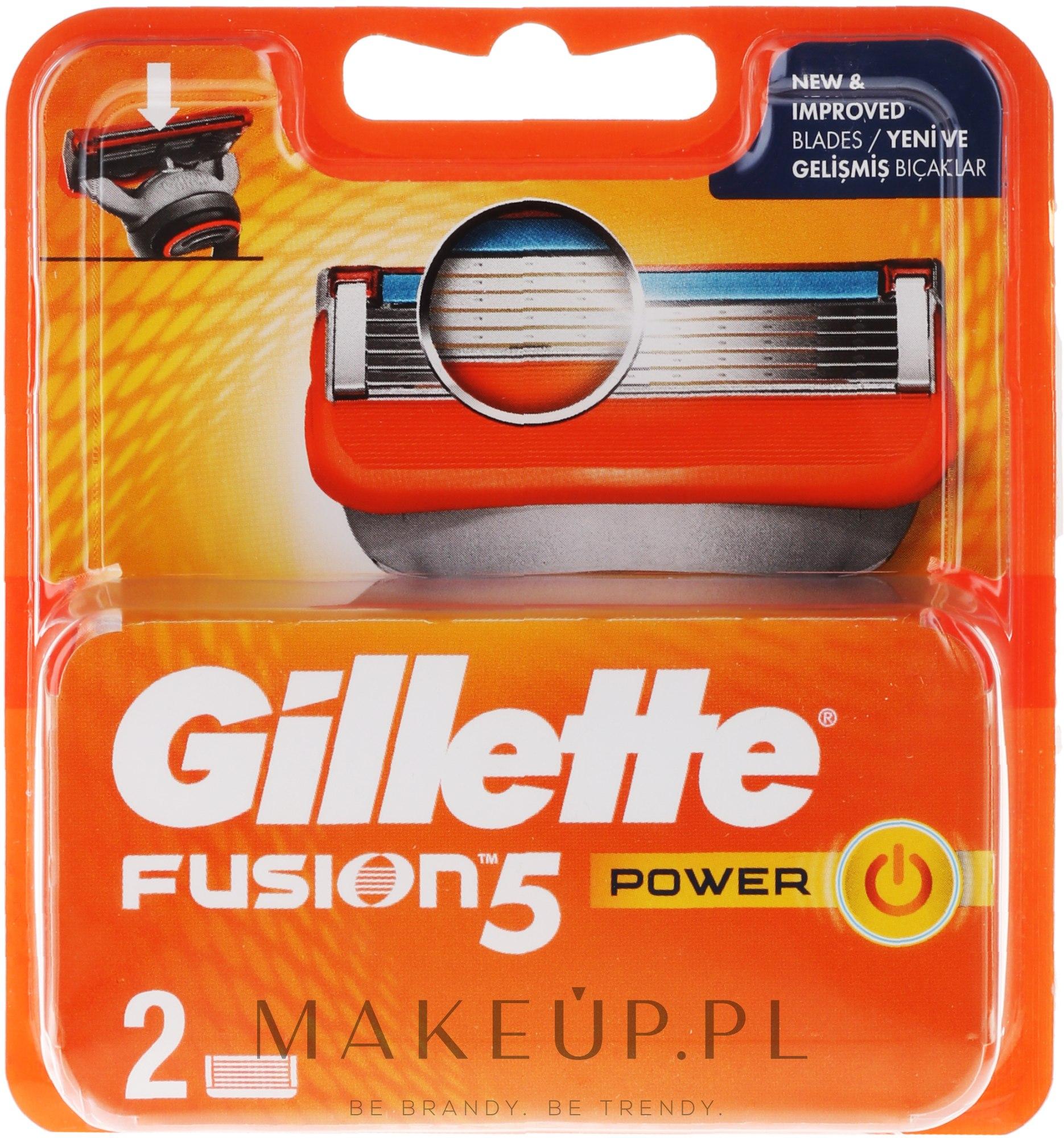 Wymienne wkłady do maszynki, 2 szt. - Gillette Fusion Power — фото 2 szt.
