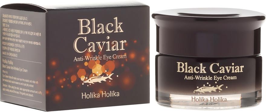 Przeciwstarzeniowy krem pod oczy z ekstraktem z czarnego kawioru - Holika Holika Black Caviar Anti Wrinkle Eye Cream — фото N1