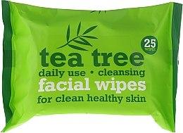Kup Oczyszczające chusteczki do twarzy 25 szt. - Xpel Marketing Ltd Tea Tree Facial Wipes For Clean Healthy Skin