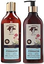 Kup Zestaw wzmacniający do włosów cienkich Potrójna moc natury - Mrs. Potter's Triple Root (shm 390 ml + cond 390 ml)