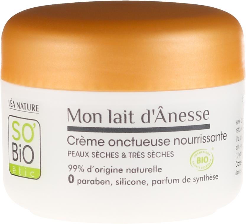 Bogaty odżywczy krem z oślim mlekiem do cery suchej i bardzo suchej - So'Bio Etic Mon Lait d'Anesse Rich Nourishing Cream — фото N2