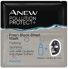 Kup Maseczka do twarzy w płachcie - Avon Anew Pollution Protect+ Fresh Black Sheet Mask