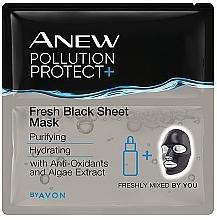 Kup Detoksykująca maseczka do twarzy w płachcie - Avon Anew Pollution Protect+ Fresh Black Sheet Mask