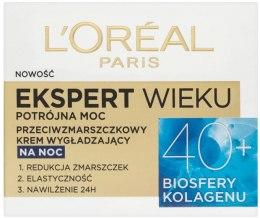 Kup Przeciwzmarszczkowy krem wygładzający do twarzy na noc 40+ - L'Oreal Paris Age Specialist Expert Night Cream