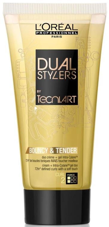 Krem-żel do stylizacji włosów - L'Oreal Professionnel Dual Stylers by Tecni.Art Bouncy & Tender — фото N1