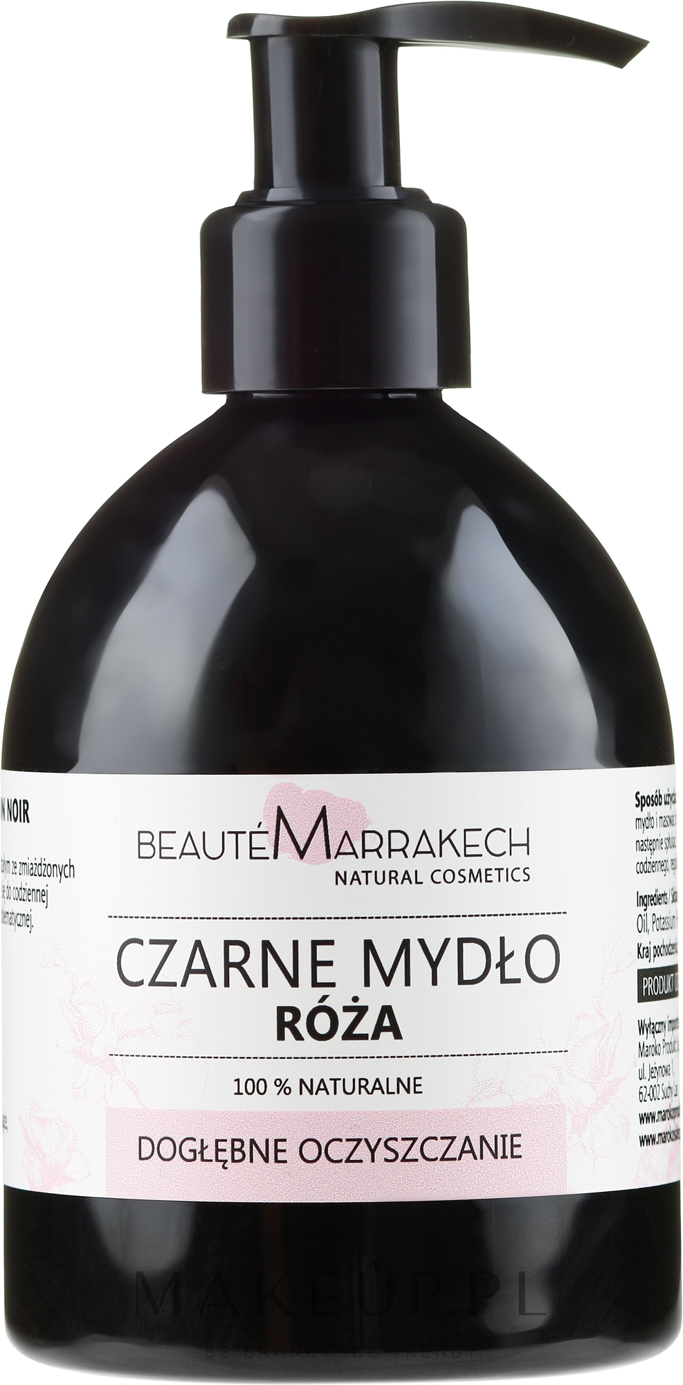 Różane czarne mydło w płynie z olejem arganowym - Beauté Marrakech Rose Black Liquid Soap  — фото 250 ml